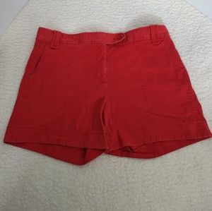 Nautica Distressed Red Shorts Women's 16